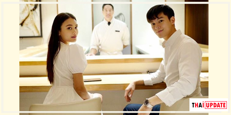 Masu Junyangdikul shared a 'couple photo' with Natalie Panalee on Instagram